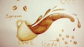 Рисунок кофе!(В этом видео вместо красок мы будем использовать КОФЕ! Кофе даст нам такой красивый цвет, и конечно же запах!..., 2014-08-11T16:32:27.000Z)