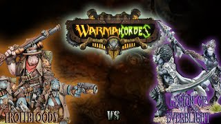Warmachine & Hordes - Trollbloods (E-Grim) vs. Legion of Everblight (Twins) - 50pt Battle Report