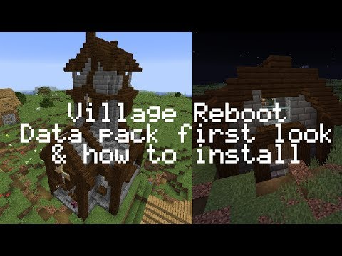 Minecraft 1.14 data pack | Village Reboot | First look & how to install