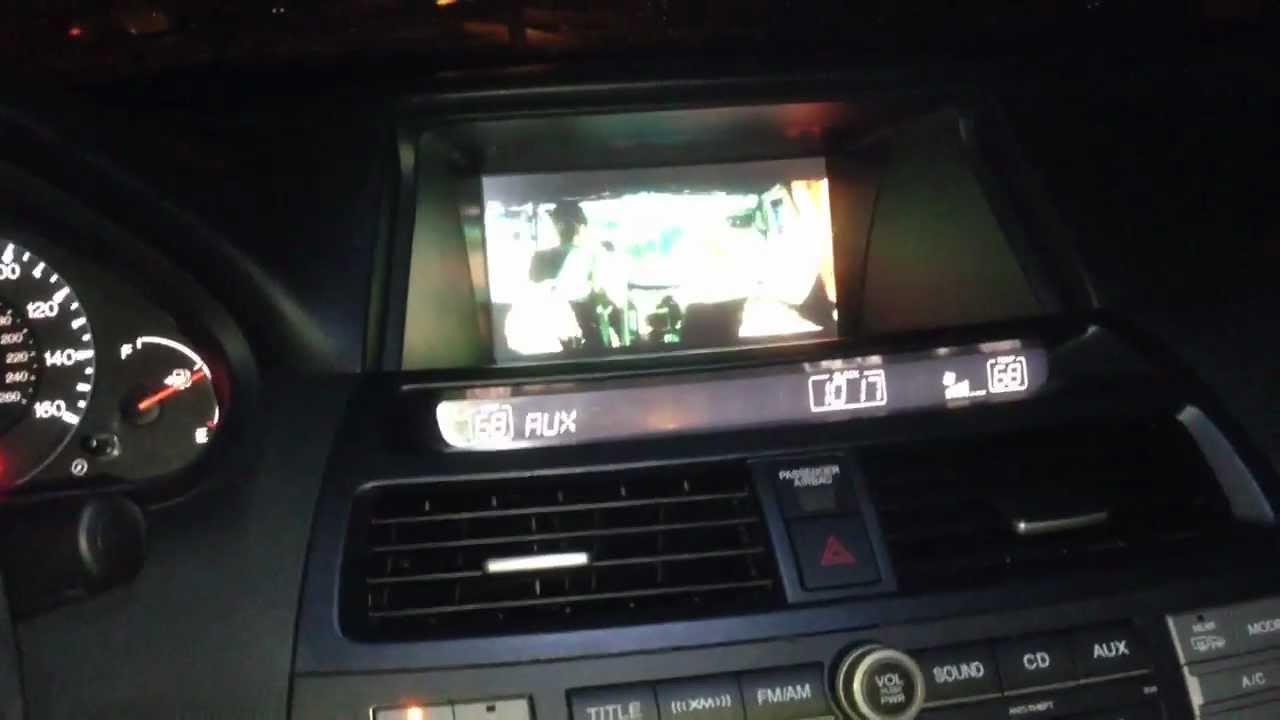 2008 Honda Accord Navigation Video Mod Youtube