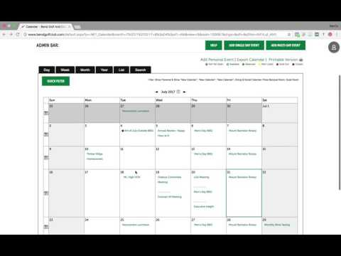 Bend Golf & Country Club - Website Calendar