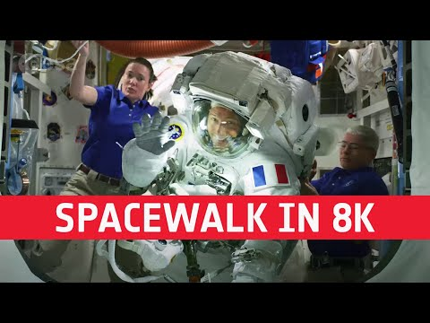Spacewalk scenes with Thomas and Aki  8K!
