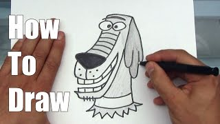 How To Draw Dukey The Dog from Johnny Test - Step By Step