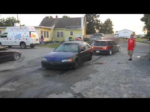 Honda Civic Burnout TIRES WONT BLOW