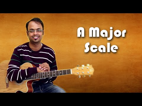 How To Play - A Major Scale - Guitar Lesson For Beginners