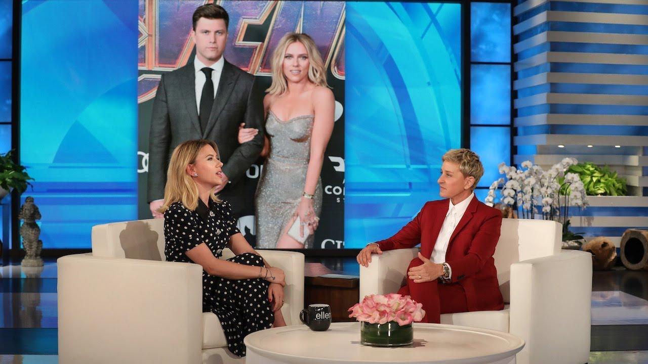 Scarlett Johansson teases fianc Colin Jost during SNL hosting ...