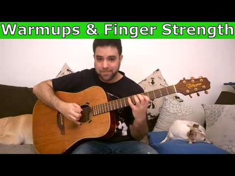 33 Finger Strength & Warm-Up Exercises - Guitar Lesson Tutorial
