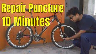 Repair Bike Puncture in 10 Minutes   Hindi   Cyclerider Roy