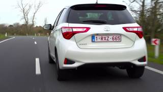 2017 Toyota Yaris Driving Video in White | AutoMotoTV