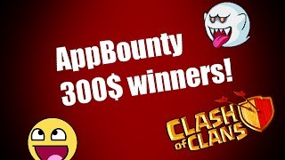 Clash of clans - AppBounty Giveaway WINNERS!!!