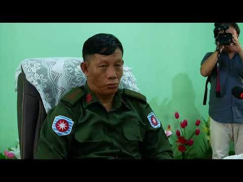 Myanmar Maungdaw Burning Village
