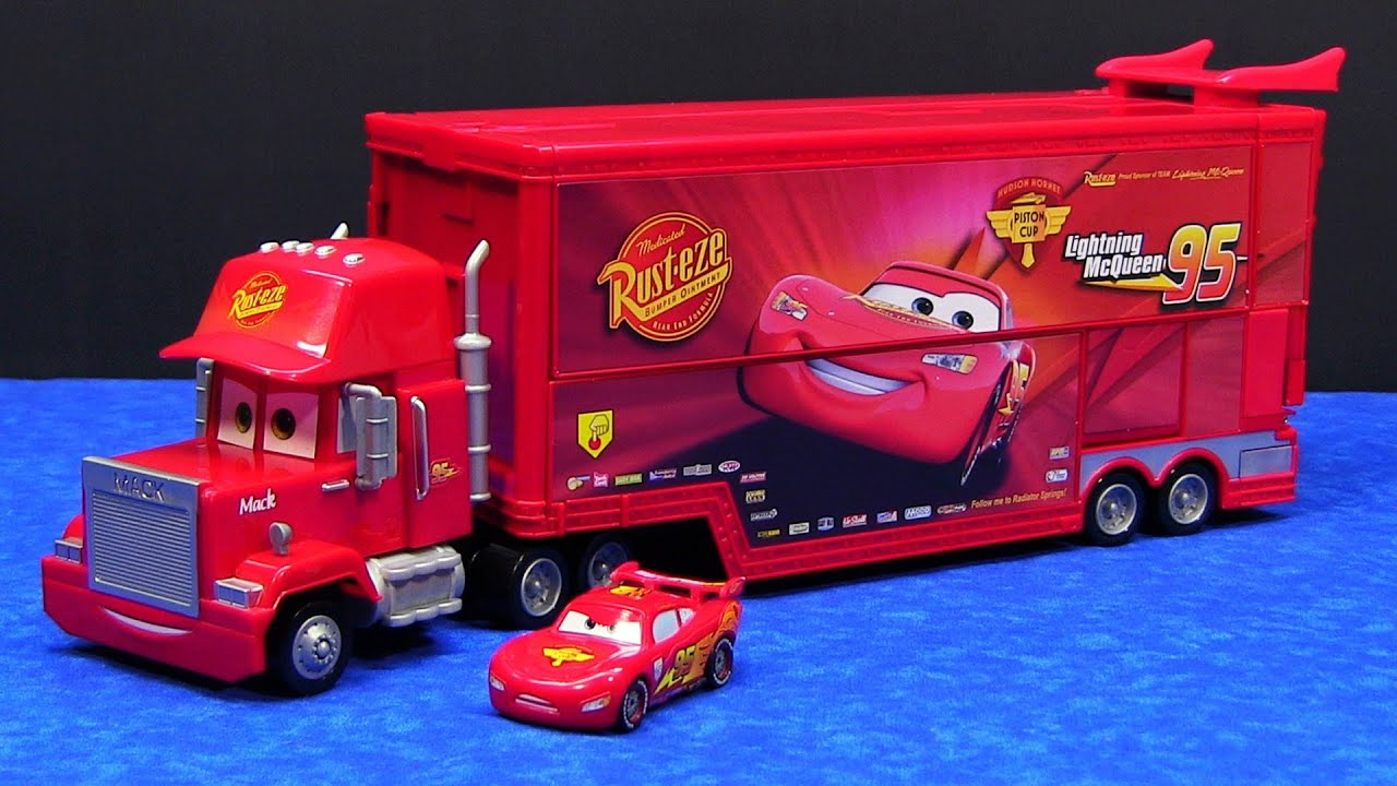 cars mack disney pixar hauler truck semi playset mattel mega trucks mcqueen lightning toys raceworld