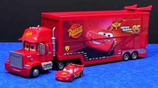Cars Mega Mack Raceworld Playset made by Mattel Hauler Semi Truck Disney Pixar