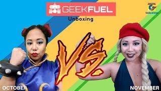 Geek Fuel October 2017 versus November 2017 Unboxing
