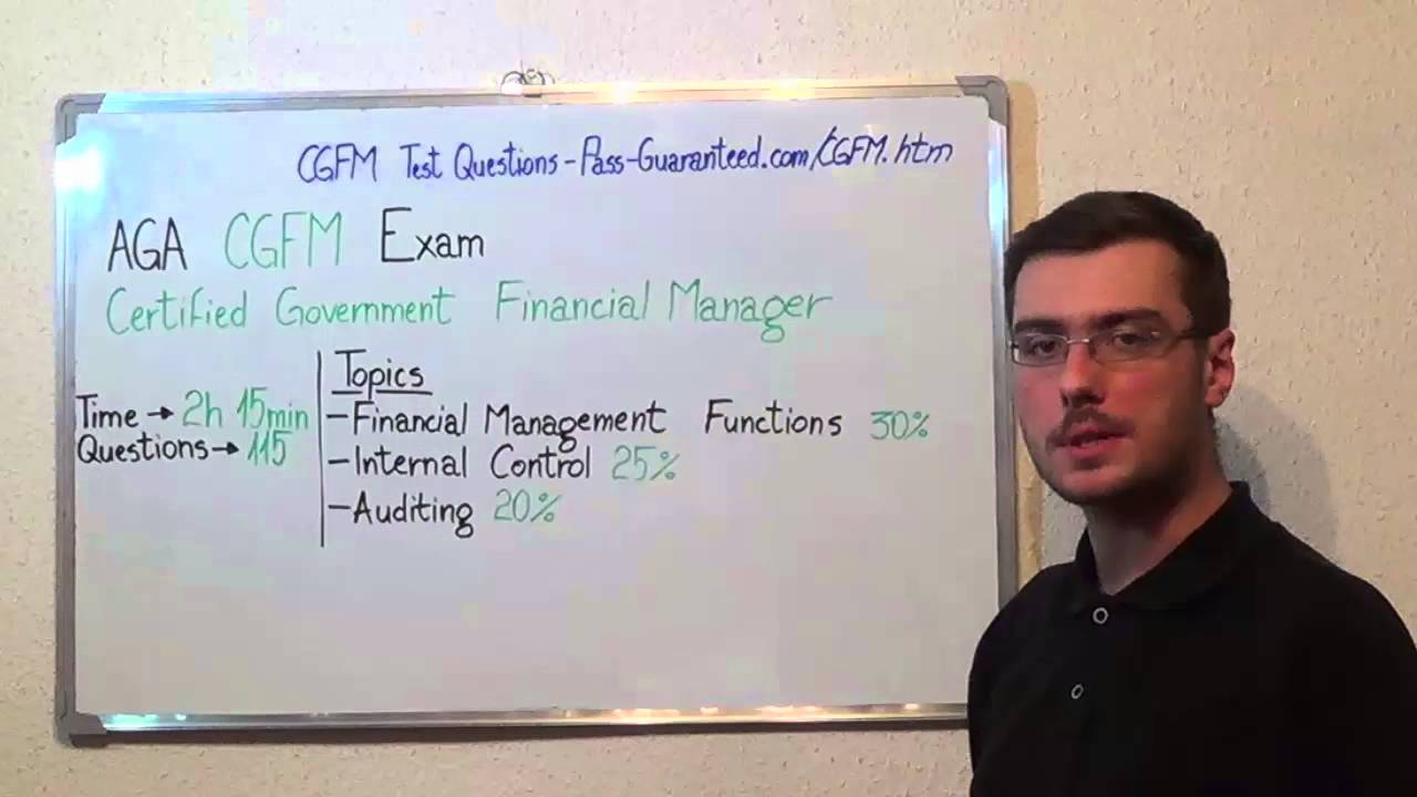 Cgfm Certified Exam Government Financial Test Manager Questions