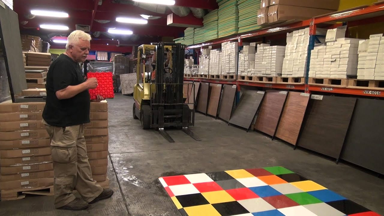 Quick diamond garage flooring carpet tiles 1 youtube dailygadgetfo Choice Image