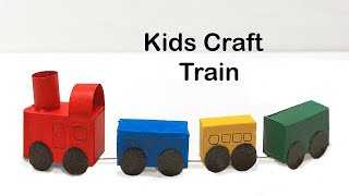 How to Make a Train and Train Tracks - fun arts and crafts project for kids