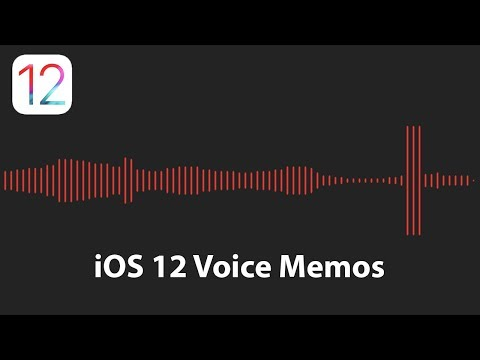 The New Voice Memos App In IOS 12