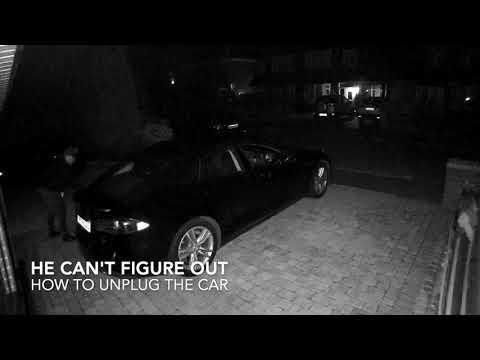 Tesla Model S Being Stolen