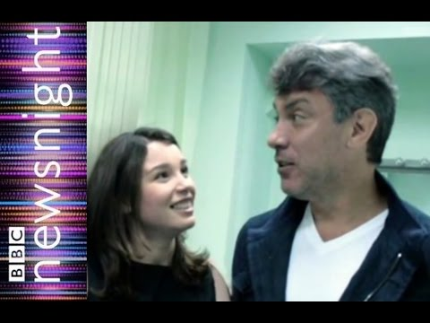Zhanna Nemtsova, daughter of murdered Boris Nemtsov speaks to Newsnight