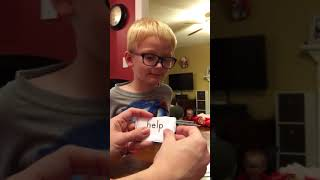Grant practicing some sight words