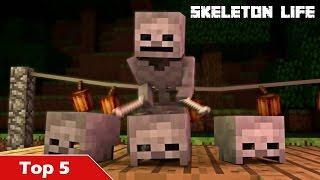 Top 5 Skeleton Life Minecraft Animations (Best Minecraft Animations)