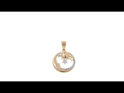 Michael Anthony Jewelry 10K Moon and Sun 2Tone Pendant