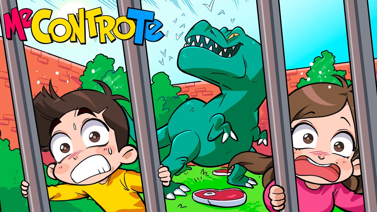 ENTRIAMO NELLA GABBIA DEL DINOSAURO NELLO ZOO!!