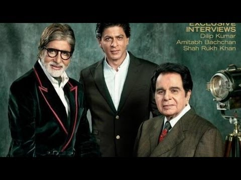 Shahrukh Khan among Bollywood greats! Poses with Dilip Kumar & Amitabh Bachchan for Filmfare