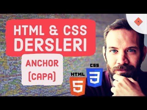 YakınKampüs - XHTML (HTML) ve CSS Ders 8 - Anchor (Çapa) Komutu (Türkçe)