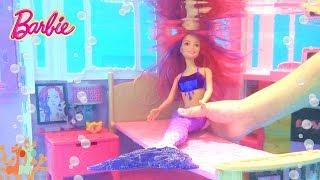 バービーのドールハウスを使って、人魚姫のおうち遊びをしました。 水中...