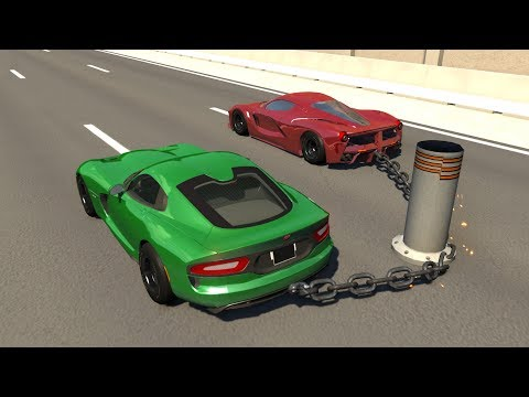 Chained Cars Crash Testing #2 - BeamNG DRIVE