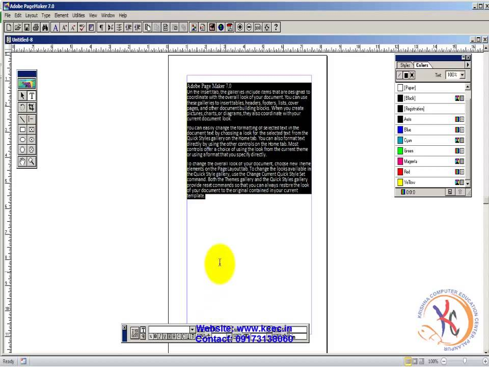 Pagemaker Tutorial In Hindi 15 Final Work Page Maker