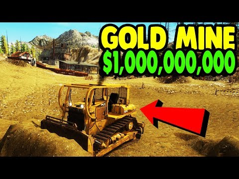 First Look: BUILDING GOLD MINE & $1,000,000,000 | Gold Rush: The Game Gameplay