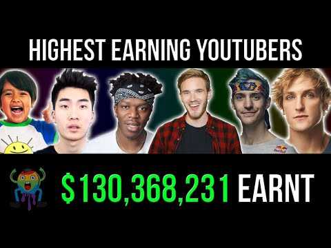 Top 10 Richest YouTubers in 2019 (ft. PewDiePie, Logan Paul and Ryan ToysReview)