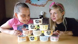 🍲 ЙОГУРТ ЧЕЛЛЕНДЖ! Вызов принят: дети угадывают вкус йогуртов Данон  for kids