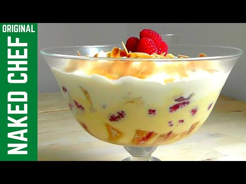 Christmas dessert How to Make Trifle & Homemade Custard recipe
