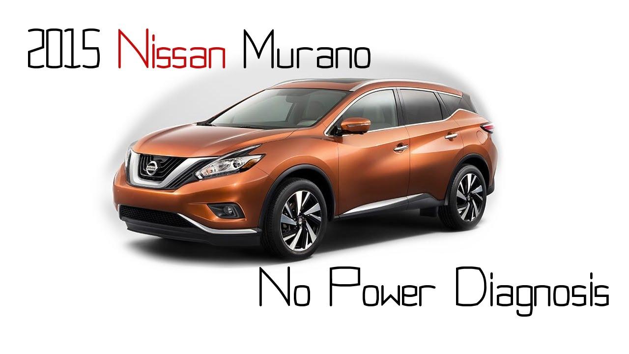 2015 Nissan Murano no power and hesitation diagnosis