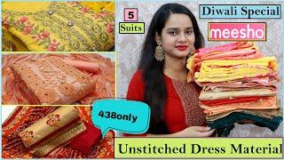 Meesho Dress Material haul Festive Party wear Dress Material Haul Unstitched Dress Material Meesho