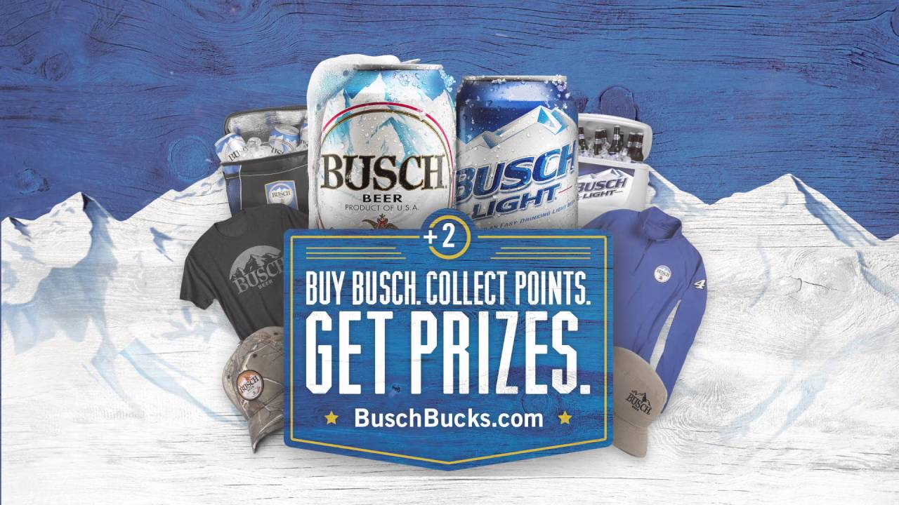 Buy Busch  Collect Points  Get Prizes  (30 Seconds)