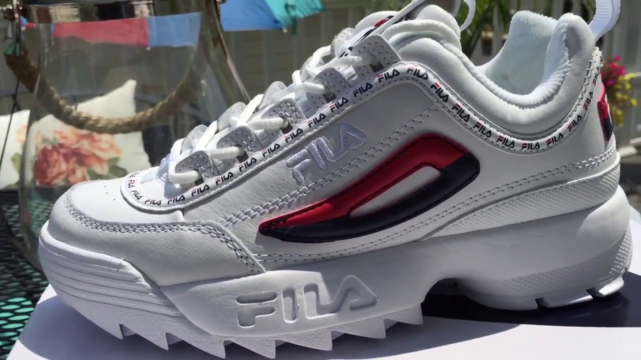 17c1031ef809 Quick Look At The Women s Fila Disruptor 2 II Premium Repeat - YouTube