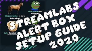 STREAMLABS OBS 2020 TUTORIAL. How To Set Up Alert Box In Streamlabs OBS!