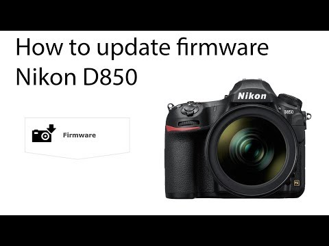 How to update Nikon D850 firmware - YouTube