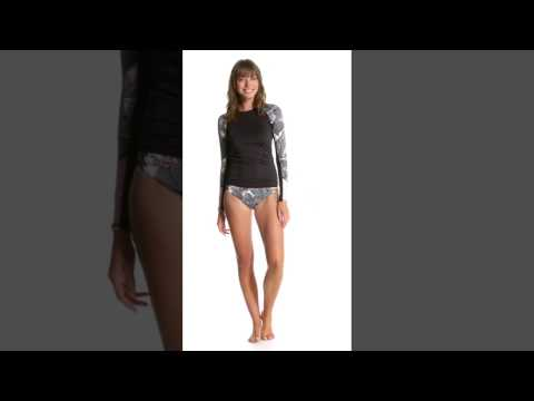 Roxy L/S Fashion Lycra Rashguard   SwimOutlet.com