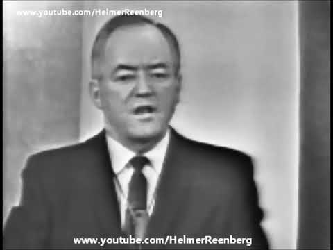 November 22, 1963 - Senator Hubert Humphrey following the assassination of President John F. Kennedy