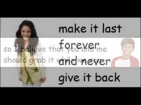 High School Musical 2 - Everyday (lyrics)