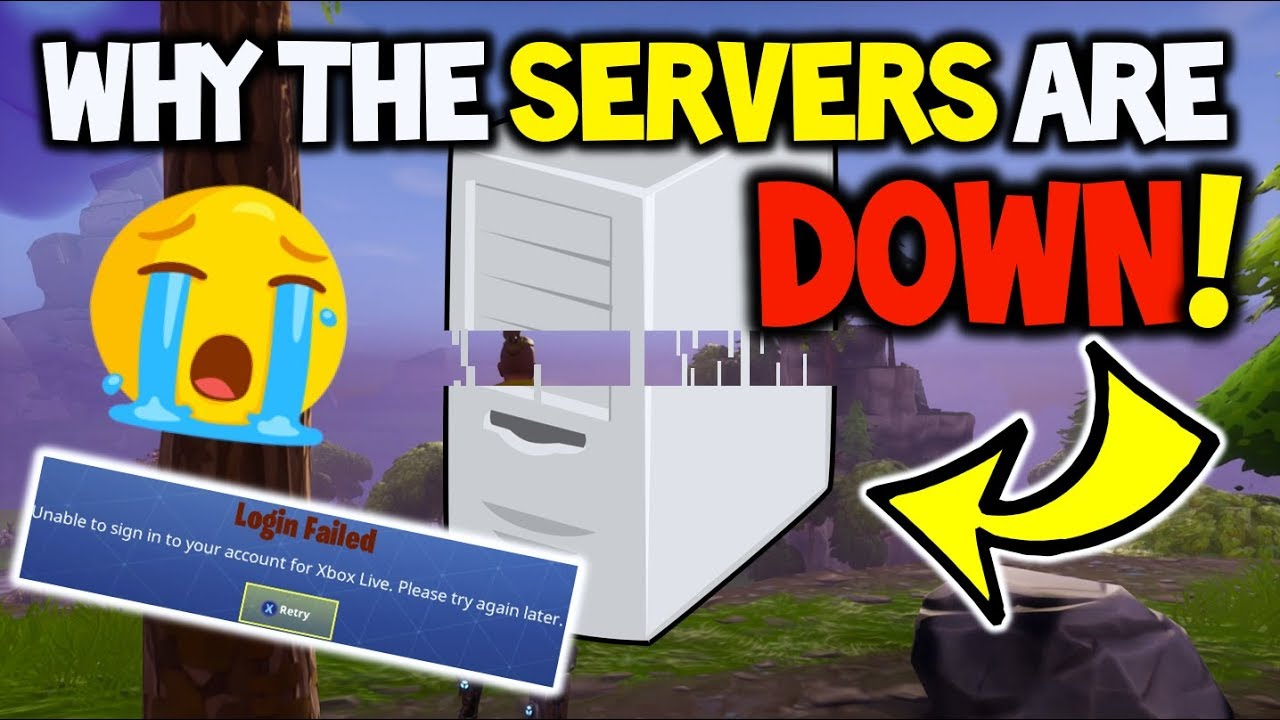 fortnite servers are down why fortnite battle royale sever details on why they are down - unable to login to fortnite servers please try again later mac
