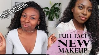 WHATS THE REAL DEAL? FULL FACE OF NEW MAKEUP | FIRST IMPRESSIONS