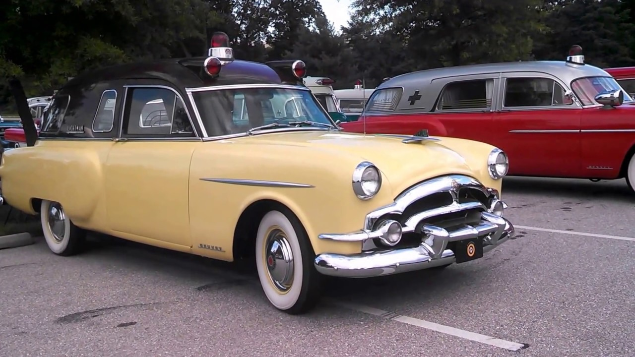 Walk About Packard Ambulances and Hearse at the Professional Car Society  2016