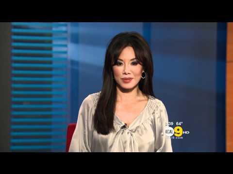 Sharon Tay 2011/09/16 8PM KCAL9 HD; Satin blouse, cold